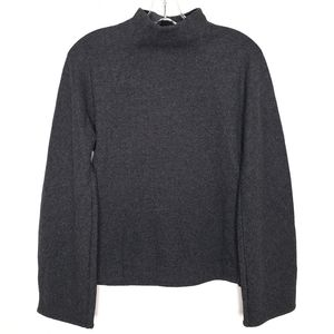 COS Gray Wool Blend Mock Neck Sweater